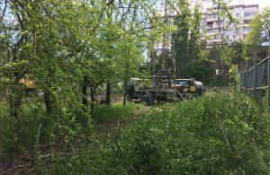 Стройка в парке Фрунзе 11 мая из засады